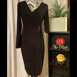 NWT- CHAPS Midi Black Dress Size Small